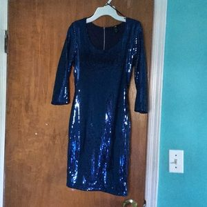 blue sparkly bodycon dress